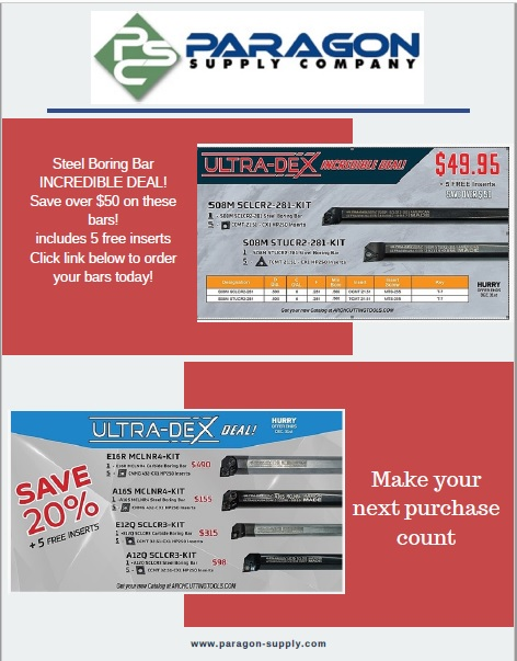 Ultra Dex Specials on chamfers, boring bars, & inserts. PSC helps you get Ultra Dex for less.